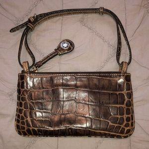 Dooney & Bourne Leather Mini Slim Zip Top Handbag